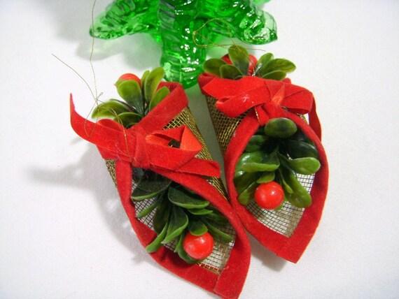 Vintage Christmas Ornaments 1980 39 S Kitsch Mistletoe By