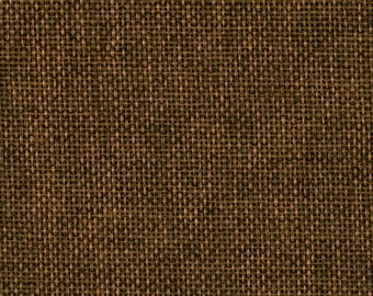 """58"""" Faux Burlap - Cinnamon Stick by the Yard (Polyester)"""