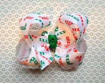 4 inch Christmas Candy Cane Hair Bow