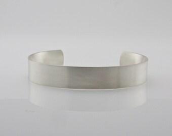 Sterling Silver Cuff Bracelet - Comfort Fit Cuff Bracelet - Handcrafted Cuff - Men's Cuff - Simple Elegant Cuff Bracelet - Made To Order