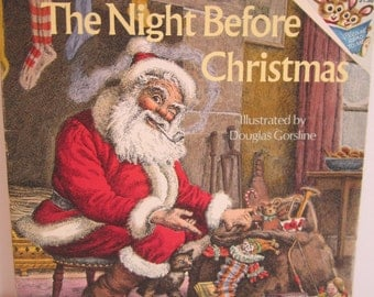 1975 The Night Before Christmas Softcover Illustrated by D. Gorsline