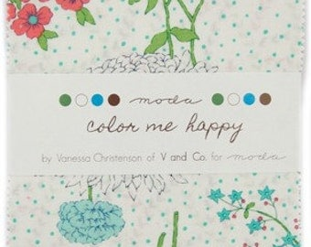 Color Me Happy Charm Pack by Vanessa Christenson of V and Co for Moda Fabrics