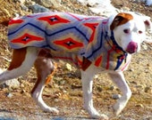 MADE TO ORDER reversible 2 layer fleece dog coat custom fit to your dog's measurements. Great for large/hard to fit dogs.