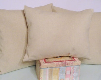 Set of three decorative envelope style drop cloth pillows