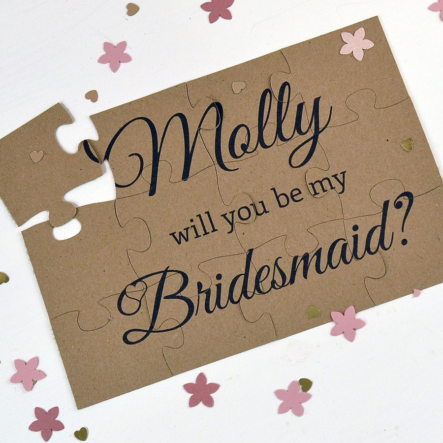 Rustic Will You Be My Bridesmaid Puzzle By Hanmadedesignsuk