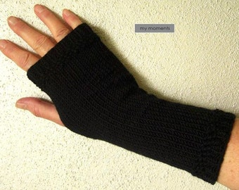 Arm warmers, Gloves, Merino, black
