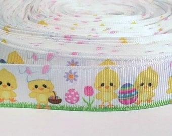 "5 yards of 7/8 inch ""Easter"" grosgrain ribbon"