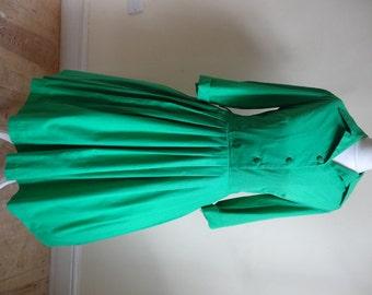 50's Dress. Kelly Green.