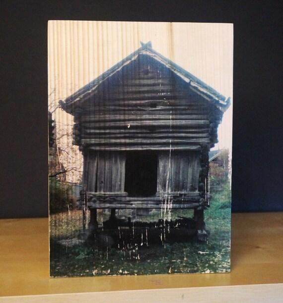 transfert photo sur bois norv ge by lecoindubois on etsy. Black Bedroom Furniture Sets. Home Design Ideas