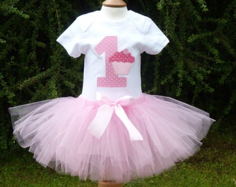 1st  Birthday girl cupcake tutu outfit, vest and tutu skirt, Birthday tutu set,Cupcake Birthday