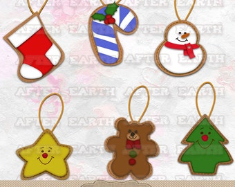 Christmas ornaments digital clipart set for Personal and Commercial Use paper crafts, card making, scrapbooking, web design