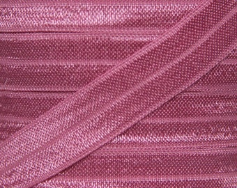 Wild Rose Fold Over Elastic - Elastic For Baby Headbands and Hair Ties - 5 Yards of 5/8 inch FOE