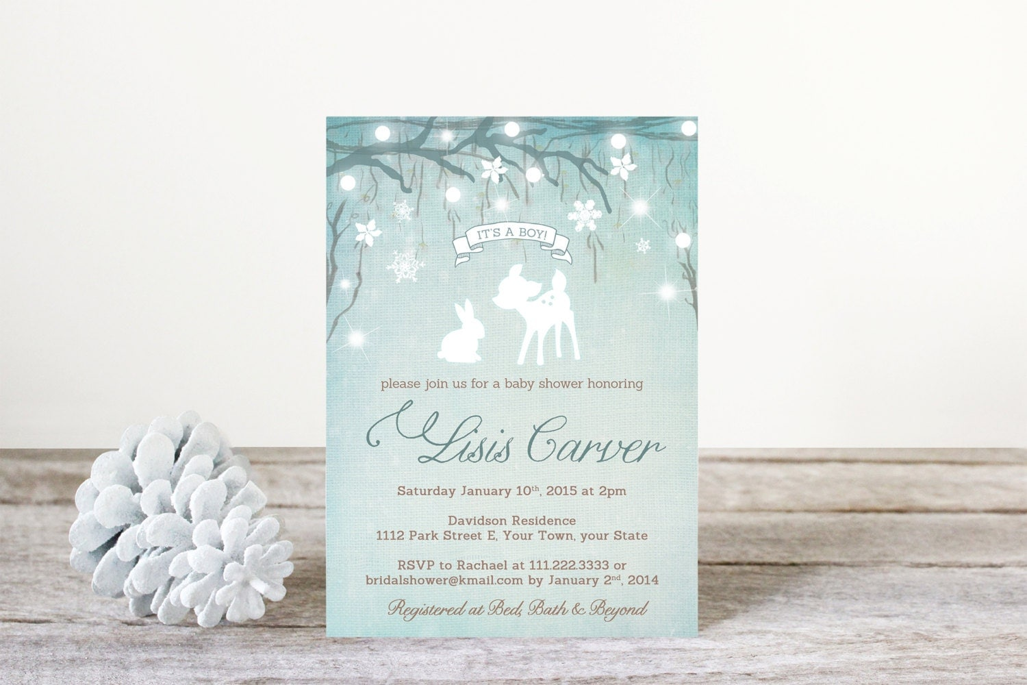 winter wonderland baby shower invitations by dulcegraceprintables