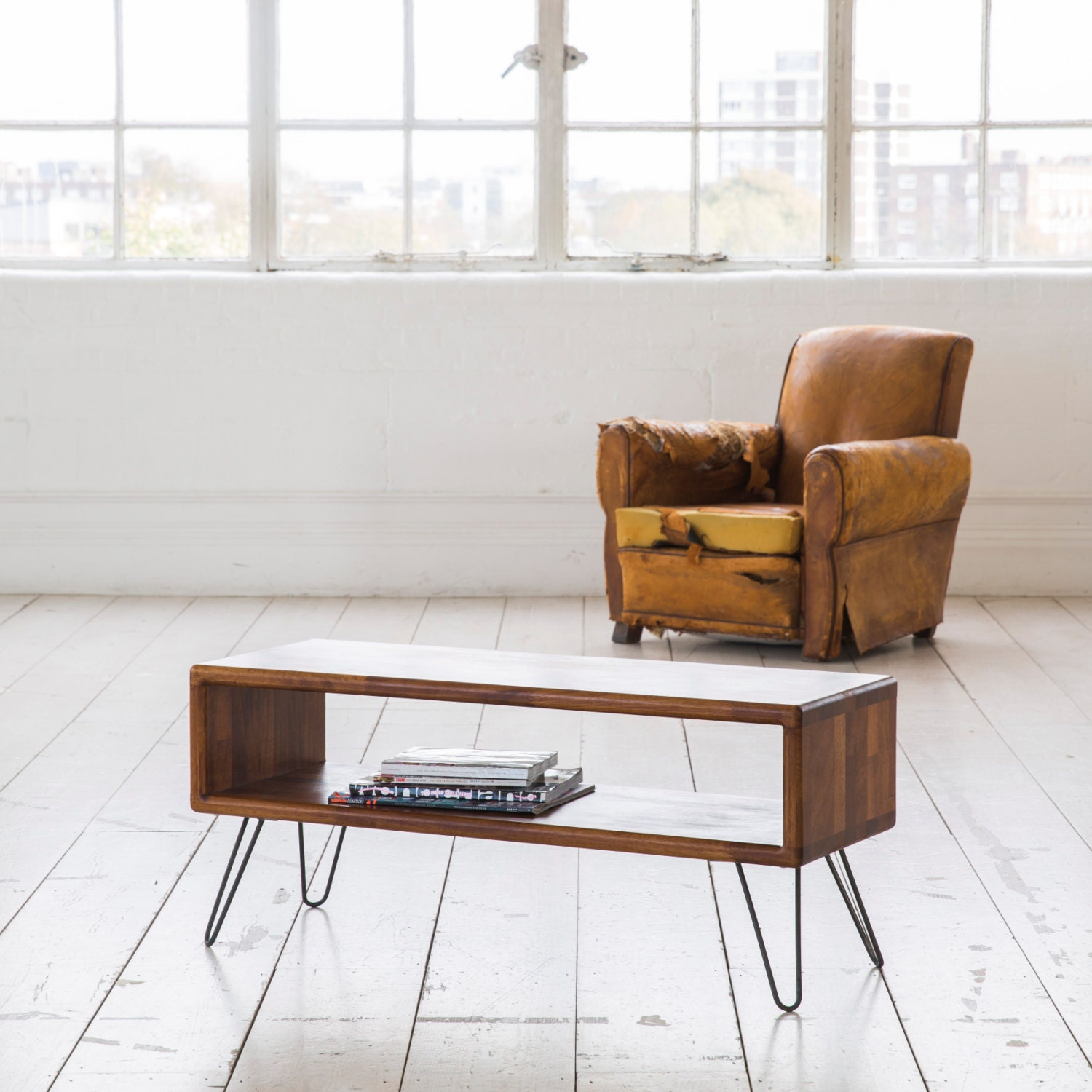iroko midcentury modern tv stand credenza with by biggsandquail. Black Bedroom Furniture Sets. Home Design Ideas