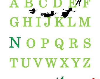 PRINTABLE ABC Peter Pan Name Print