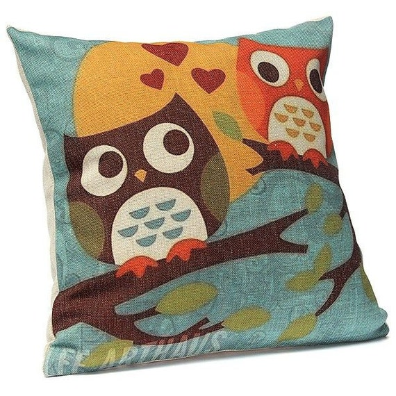 Cute Owl Pillow Cover Owl Pillowcases Owl by TaikalandiaShop
