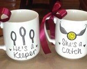 Customizable Harry Potter Inspired Set of Porcelain Mugs for Couples