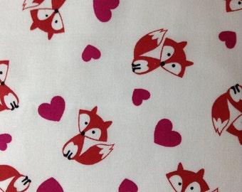 One Fat Quarter of Fabric - Foxy Valentine