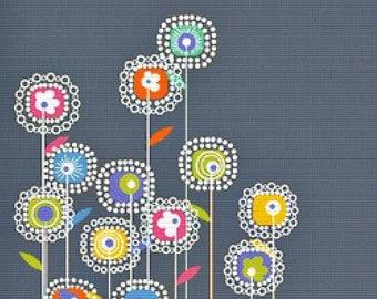 Square Flowers PDF Cross Stitch Pattern