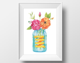 There are Always Flowers - 8 x 10 Vertical Print