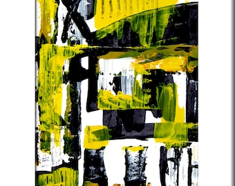 UNTITLED IV - Original Large Abstract Contemporary Modern Art Painting Print by Elwira Pioro - NuElle