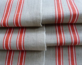 "Free shipping! Orange white stripe flax linen fabric manglecloth "" linen bales 3,22YD .. beer garden tablecloth  beer garden tablecloth"