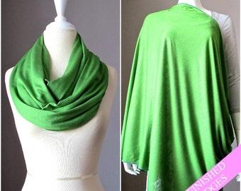 Nursing  scarf, breastfeeding wrap, breastfeeding blanket, scarf nursing cover, nursing infinity scarf, wide  scarf, green scarf
