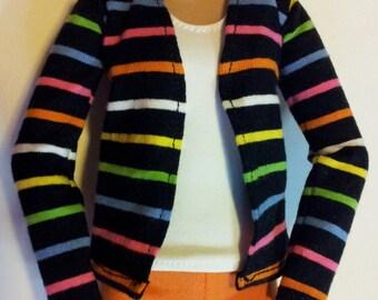 Fashion Royalty or Barbie. Cardigan Multi Stripes