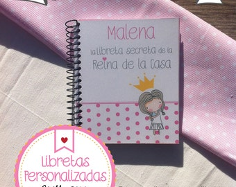 Queen of the House Personalized Notebook
