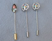 Lot of Three Vintage Stick Pins 2 Order of the Eastern Star