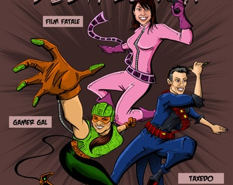 Custom Comic Book Cover: Place yourself and family/friends on a custom made comic cover!