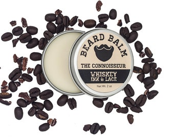 The Connoisseur Beard Balm - Leave-in beard conditioner, Coffee & Cocoa scented beard styling pomade, beard butter for taming beards