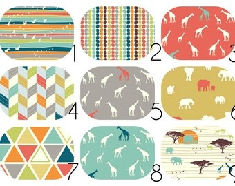 Organic CRIB BEDDING Serengeti Collection - Stokke, Fitted Crib Sheet, Packn'Play, Bassinet, Mini Crib, Changing Cover, Boppy Pillow Cover