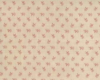 French General Favourites Red Sprig - 1/2yd