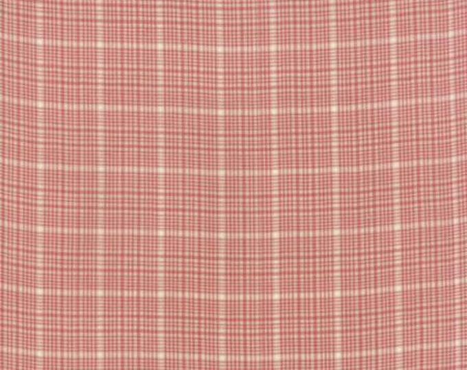 Petite Woven Silky Cotton Windowpane Rouge - 1/2yd
