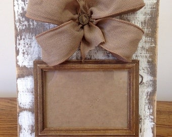 Distressed/Rustic Cream Picture Frame