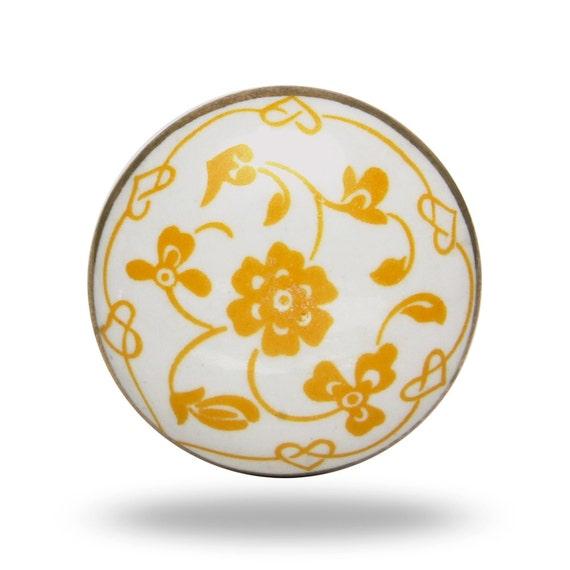 Poign e de porte en c ramique r tro bouton d coratif blanc - Poignee de porte ceramique ...