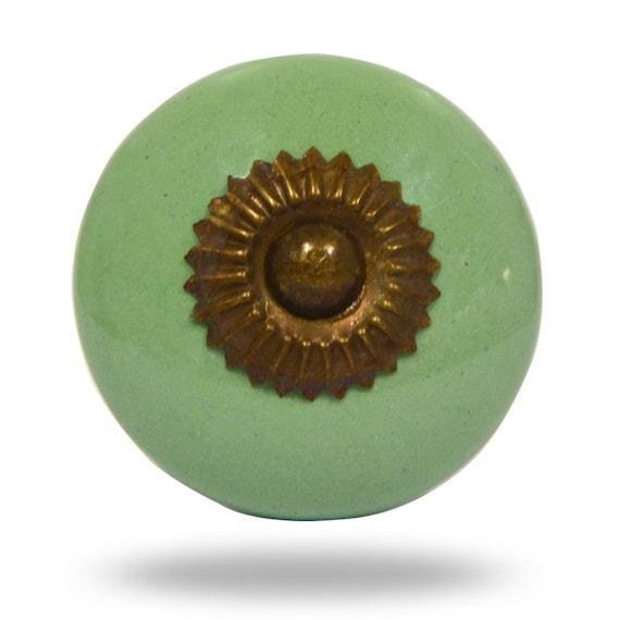 Interior decorative furniture door knob handle light green for Decorative interior door knobs