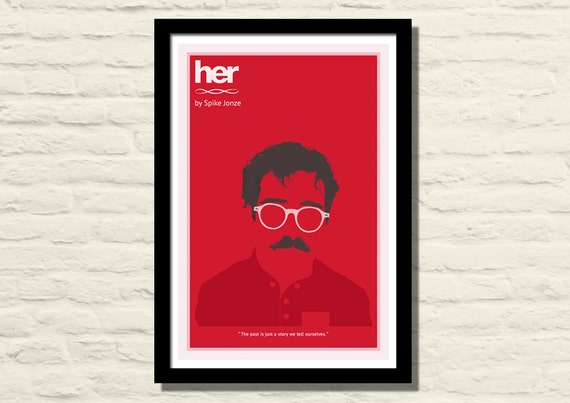 Her Movie Poster Art Print 11 X 17 Minimalist Poster Home