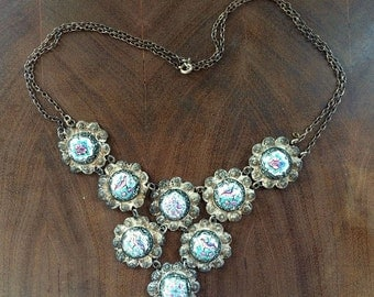 Vintage French Necklace - 1940s  - vintage