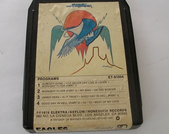 Vintage 8 Track Tape- Eagles- On The Border ET 81004 Asylum 1974