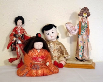 Japanese DOLLS LOT vintage