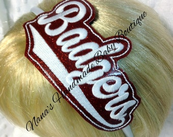 Badgers - Team Headband Slip On  - DIGITAL EMBROIDERY DESIGN