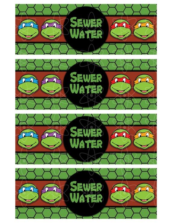 PRINTABLE WATERBOTTLE Labels Teenage Mutant Ninja by ...