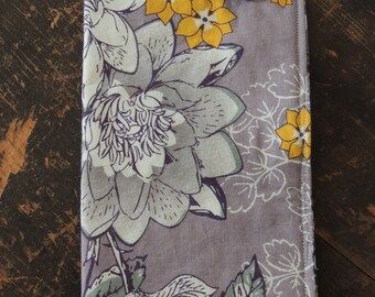 Soft purple and mustard handmade glasses case