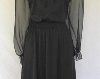 Georgee Originals 1960's Black Dress