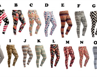 Women Custom Patterned Print Tights/Leggings-chevron/american flag/aztec/flower/camouflage