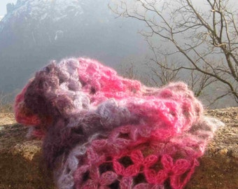 Sciarpona Valsassina, crochet wrap downloadable .pdf pattern