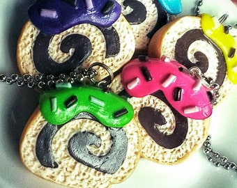 Cake roll necklace