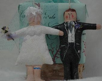 Folk Art Bride and Groom (CO-Bride/CO-Groom)